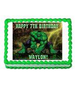 Incredible Hulk Avengers Edible Cake Image Cake Topper - $8.98+