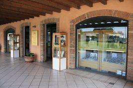 CIONDOLO ORO GIALLO BIANCO 750 18K, ANCORA MARINARA, BUSSOLA, MADE IN ITALY image 5