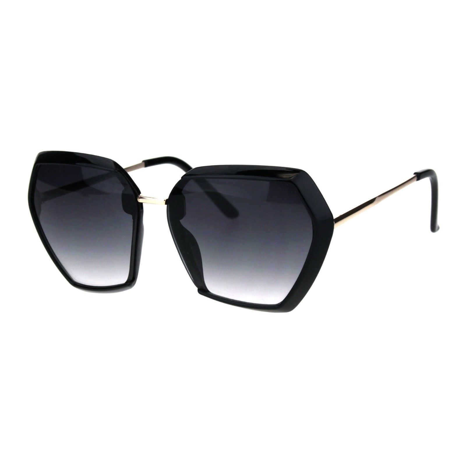 Womens Chic Fashion Sunglasses Unique Square Trapezoid Frame UV 400