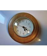 "Ingraham 8.5"" Round Shaped Quartz Wooden Frame Wall Hanging Clock - EUC - $14.85"