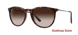 Ray Ban 4171 865/13 Erika 54mm Havana Tortoise Sunglasses New and Authentic - $75.91