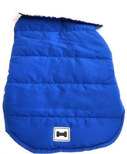 Dog Coat Jacket Size 2XL XXL Pet Puppy Apparel Outfit Solid Blue Bone Insignia