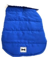 Dog Coat Jacket Size 2XL XXL Pet Puppy Apparel Outfit Solid Blue Bone In... - $17.78