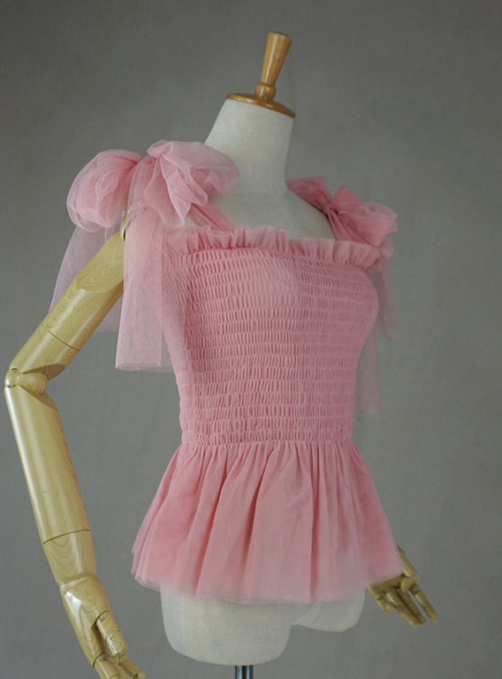 Tulle top pink 3