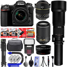 Nikon D500 Digital SLR Camera 20.9MP w/ 5 Lens 6.5 to 2600mm - 32GB 34PC... - $1,871.17