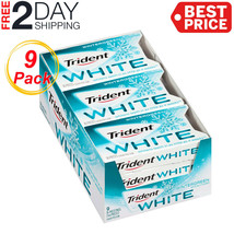 Trident White Sugar Free Gum (Wintergreen, 16 Piece, 9 Pack) - $12.72
