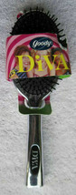 Goody Diva Cushion Hair Brush 1999 Reflective Silver Mirror Plastic Hand... - $45.00