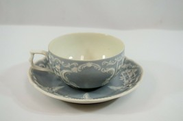 Rosenthal Sanssouci Teacup & Saucer Grey White Porcelain Germany Coffee - $33.68