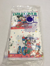 NEW Vtg Disney Roller Mickey Mouse Plastic Back Table Cover Cloth Goofy ... - $11.61 CAD