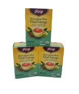 3x(48 Bags) Yogi Refreshing Mint Vital Energy Black Tea Blend Expires 03... - $39.99