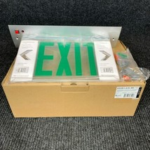Lithonia Lighting EDGR-1-G- EL- M4 LED Green Exit Sign ?-AS IS / MISSING... - $74.80