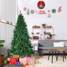 6FT Artificial Christmas Tree with Stand Holiday Indoor Outdoor New Year Green - $49.99