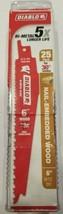 "Freud DS0612BW25 Diablo 6"" x 6/12 TPI Wood Cutting Recip. Saw Blade 25 Pack - $37.62"