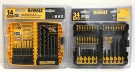Dewalt DW1169 14-Pc Pilot-Point Drill Bit Set and DW2153 34 pc Impact Ready Set - $33.65