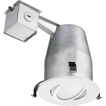 Lithonia Lighting 4 in. Matte White Recessed Daylight LED Gimbal Kit (50... - $39.99
