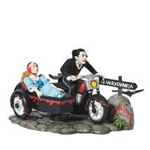 LADY & THE VAMPIRE motorcycle Dept 56 Halloween Village Figurine - £31.08 GBP