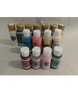Lot of 15 Plaid Glaze Paint & Design Press Translucent Paint Used - $7.43