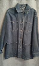 Jones New York Sport Women's Size Medium Denim Cotton Coat Jacket       ... - $25.99