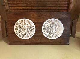 Estate Find~Mid Century Hostess Wooden Warming Tray~2 Burner~Works Great - $14.95