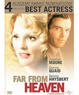 Far From Heaven (ONE CENT DVD, 2003, WIDESCREEN) MOORE QUAID HAYSBERT - $0.99