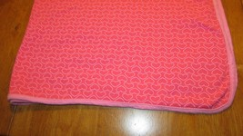 Carters Just One You Dark Pink hearts Cotton Receiving Girls Baby Blanket - $24.87 CAD