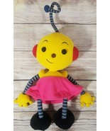 Vintage Disney Rolie Polie Olie Plush Zowie Stuffed Robot Yellow Pink Re... - $21.33