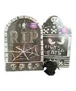 3 Pc Halloween Tombstones  Glitter Crow Bundle Indoor/outdoor Yard Party... - €13,26 EUR