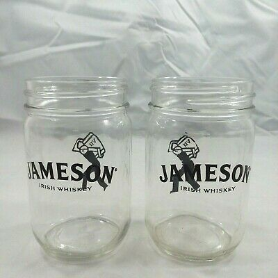 Primary image for Set of 2 Jameson Irish Whiskey Sip'n Mule Jars Mason Jars