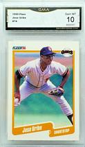 Graded 10 Gem Mint! Jose Uribe 1990 Fleer #74 Giants Baseball Best Grade! Hot! - $249.95