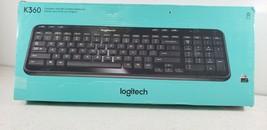 Logitech K360 Advanced Wireless Compact Keyboard USB Unifying 920-004088... - $31.45
