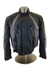 Xelement   Black Gray Mesh Zip Out Liner Armored Motorcycle Jacket Sz XXL - $42.33
