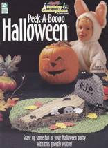 Peek-A-Boooo Halloween, Holiday Centerpieces Plastic Canvas Patterns HWB... - $3.95
