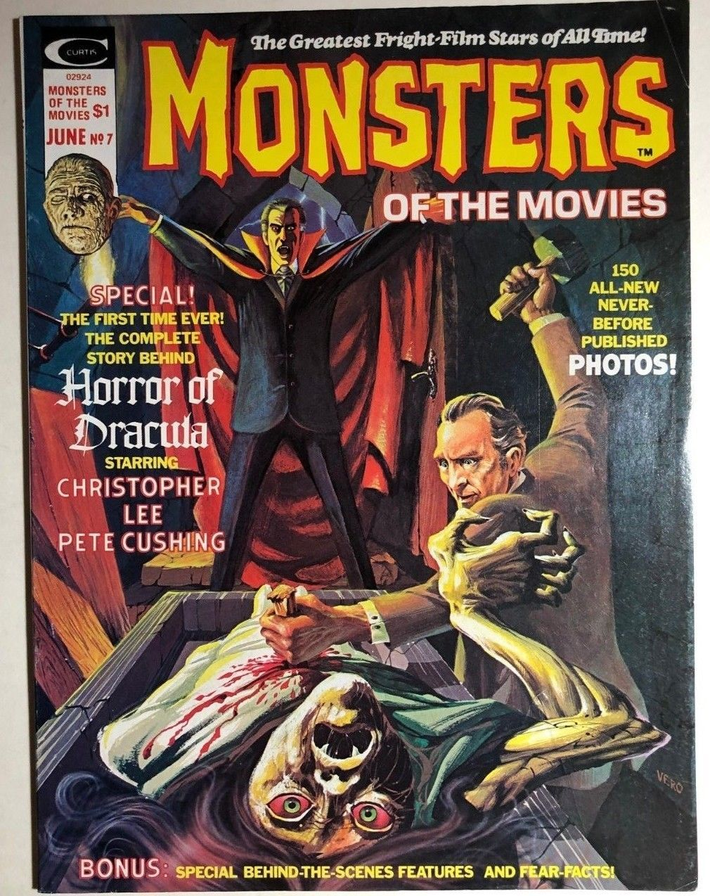 Primary image for MONSTERS OF THE MOVIES #7 (1976) Marvel Comics B&W magazine FINE- White Mountain