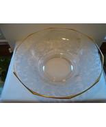 "Cambridge Glass lg.12 "" clear glass fruit bowl Lorna pattern - $25.00"