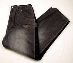 Von Dutch Kustom Made Original Black Denim Jeans Sweatpants 2XL XXL EUC - $69.99