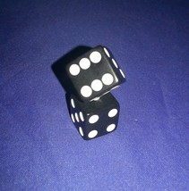 Clue Replacement Die Dice Black Game Part Piece - $2.50
