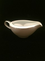 Noritake Colony pattern 5932 Creamer - Vintage 50s with platinum trim image 1
