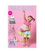 McCall Patterns M6496 Children's/Girls' Dresses, Belt and Bag, Size CDD ... - $7.19