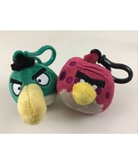 Angry Birds Plush Stuffed Backpack Keychain Toy Clip Ons Terrence Hal Ro... - $22.23