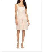 NWT WOMEN Lauren Ralph Lauren Metallic Floral Jacquard Dress size 2 $184 - $59.39