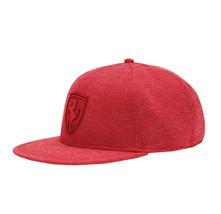 Puma Ferrari LS FB Rosso Corsa Flat Brim Red Baseball Hat Adult Strap Back Cap