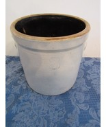 Antique 3 Gallon Stoneware Crock With Handles Eastern US  - $74.35