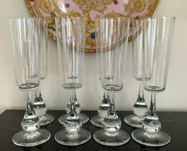 Baccarat Crystal Jose Pattern 8 Fluted Champagne Designed by Boris Tabacoff - $799.00