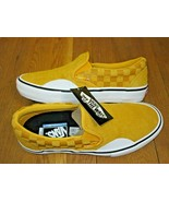 Vans Mens Slip on Pro Hairy Suede Banana Yellow Checker Skate shoes Size... - $64.34