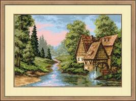 Cross Stitch Kit Riolis The Mill - $34.00