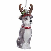 Pit Bull Terrier w/Antlers Noble Gems Glass Ornament - $10.95