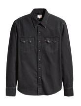 Levi's Classic Casual Denim Black Sawtooth Western Shirt Color Black 658190098 image 2