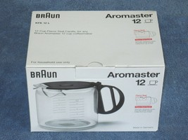 Braun KFK 12 L 12-Cup CARAFE for Aromaster Coffeemakers - NEW ! - $29.99