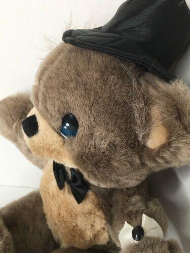 "1996 Precious Moments Groom Bear Plush Stuffed Teddy Animal 17"""