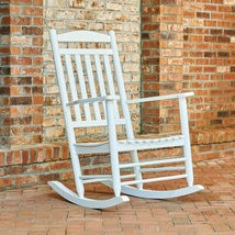 Outdoor Rocking Chair White Porch Patio Versatile Classic Furniture Comf... - $107.09
